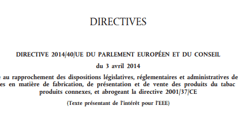 Tabac & dispositions européennes