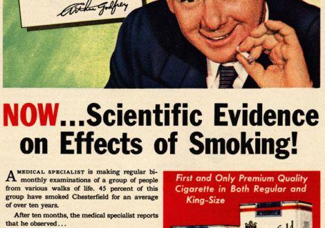 Nier les dangers de la consommation de tabac