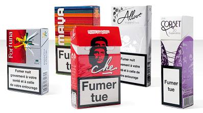 Le paquet de cigarettes utilisé comme support de publicité