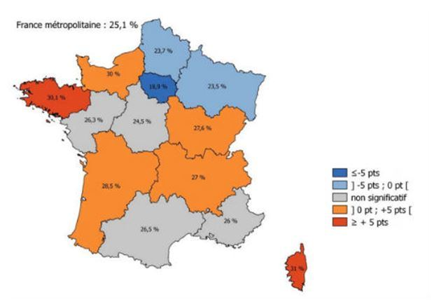 carte-france-tabagisme-jeunes-17ans-regions