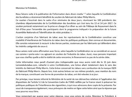 Lettre ouverte à Monsieur Pascal Montredon, Président de la Confédération des buralistes
