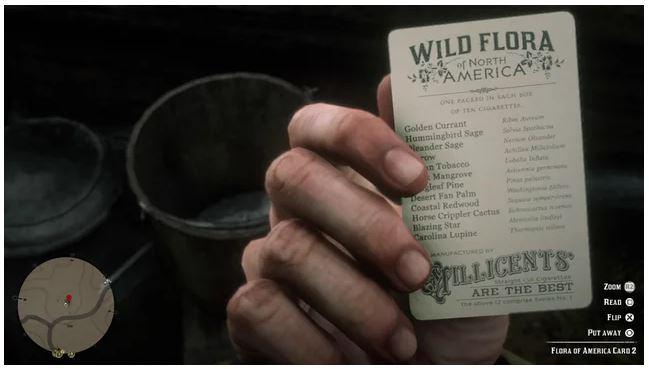 Cartes collector à collectionner dans les paquets de cigarettes disséminés dans le jeu