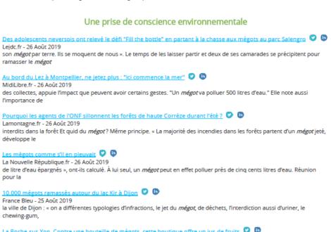 Revue de presse du CNCT – Une prise de conscience environnementale