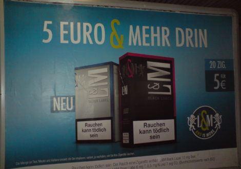 Lentement, l'Allemagne se rapproche de l'interdiction de la publicité pour le tabac